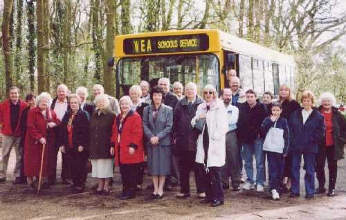 The members on a trip to Copford and Long Melford Churches